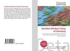 Buchcover von Socialist Workers' Party of Germany