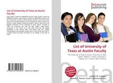 Copertina di List of University of Texas at Austin Faculty