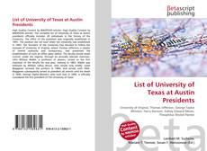 List of University of Texas at Austin Presidents的封面