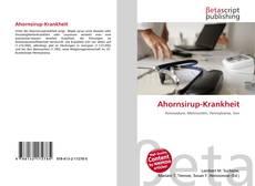 Bookcover of Ahornsirup-Krankheit
