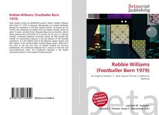 Bookcover of Robbie Williams (Footballer Born 1979)