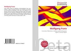Buchcover von Wolfgang Franz