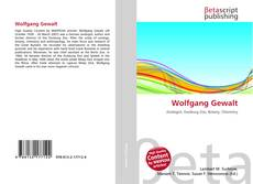 Buchcover von Wolfgang Gewalt
