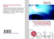 Buchcover von Ahrenberg (Gemeinde Sitzenberg-Reidling)