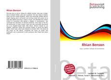 Bookcover of Rhian Benson