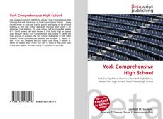 Bookcover of York Comprehensive High School