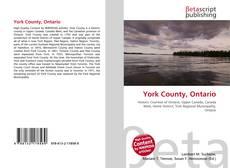 Обложка York County, Ontario