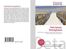 Bookcover of York Haven, Pennsylvania