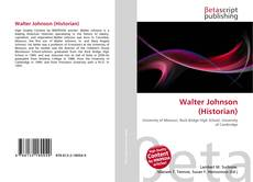 Bookcover of Walter Johnson (Historian)