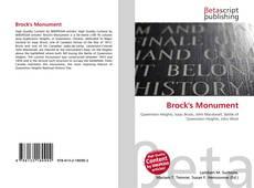 Capa do livro de Brock's Monument