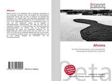 Buchcover von Ahrons