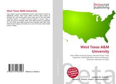 Обложка West Texas A&M University