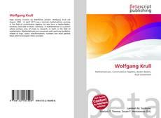 Buchcover von Wolfgang Krull