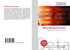 Bookcover of Rhine Research Center