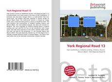 Bookcover of York Regional Road 13