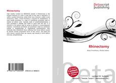 Bookcover of Rhinectomy