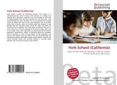Portada del libro de York School (California)