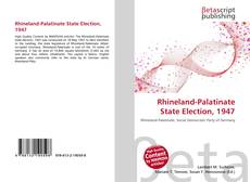 Copertina di Rhineland-Palatinate State Election, 1947