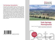 Portada del libro de York Springs, Pennsylvania
