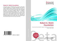 Обложка Robert A. Welch Foundation