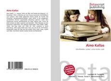 Portada del libro de Aino Kallas