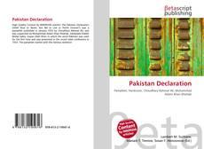 Copertina di Pakistan Declaration