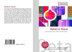 Buchcover von Robert A. Pascal