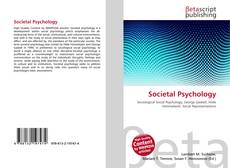 Bookcover of Societal Psychology