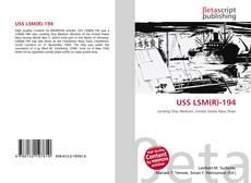 Capa do livro de USS LSM(R)-194