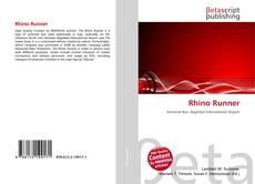 Capa do livro de Rhino Runner