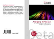 Buchcover von Wolfgang Krätschmer