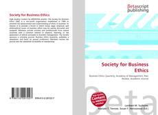Portada del libro de Society for Business Ethics