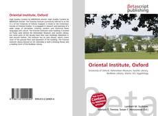 Capa do livro de Oriental Institute, Oxford