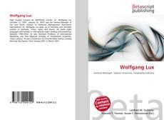 Buchcover von Wolfgang Lux