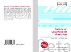 Couverture de Society for Constitutional Information