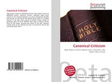 Bookcover of Canonical Criticism