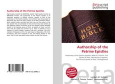 Capa do livro de Authorship of the Petrine Epistles
