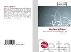 Buchcover von Wolfgang Bloser