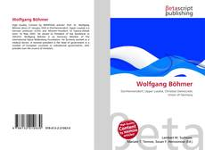 Bookcover of Wolfgang Böhmer