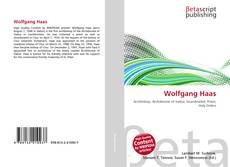 Bookcover of Wolfgang Haas