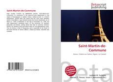 Capa do livro de Saint-Martin-de-Commune