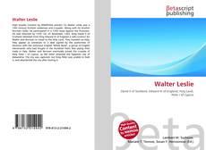 Buchcover von Walter Leslie
