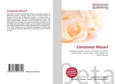 Constanze Mozart kitap kapağı