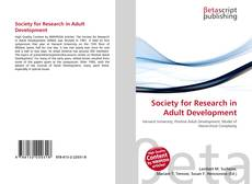 Bookcover of Society for Research in Adult Development