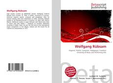 Buchcover von Wolfgang Rübsam