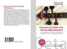 Bookcover of Concerto for Violin and Strings (Mendelssohn)
