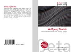 Buchcover von Wolfgang Staehle
