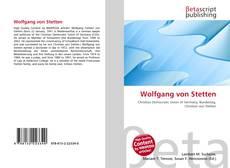 Bookcover of Wolfgang von Stetten