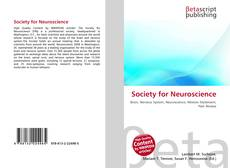 Bookcover of Society for Neuroscience