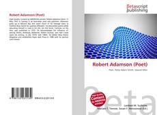 Bookcover of Robert Adamson (Poet)